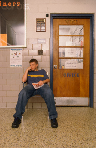 Student Waiting Outside Principal's Office
